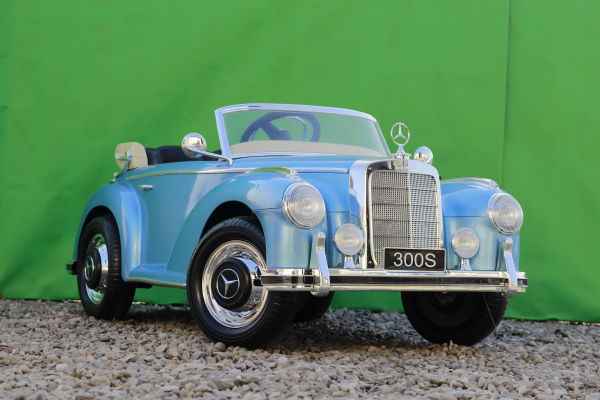Masinuta electrica Mercedes 300S 70W 12V PREMIUM #Albastru 3