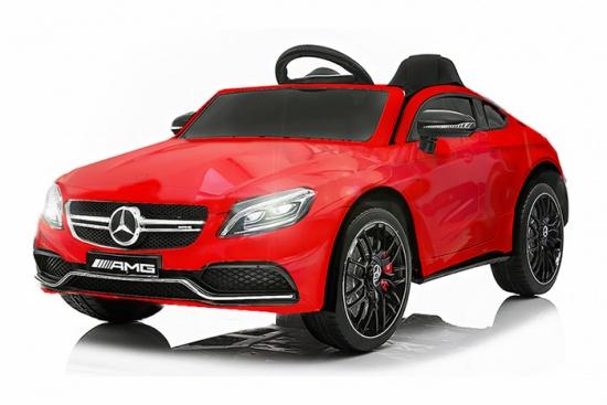 Masinuta electrica Mercedes C63 12V PREMIUM #Rosu 0