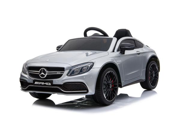 Masinuta electrica Mercedes C63 12V STANDARD #Argintiu [0]