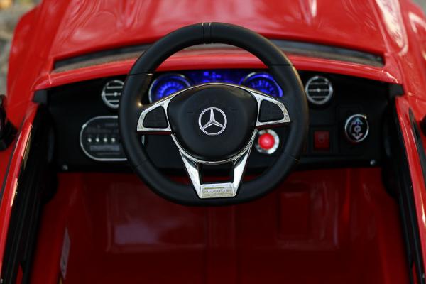 Masinuta electrica Mercedes C63 12V PREMIUM #Rosu 2