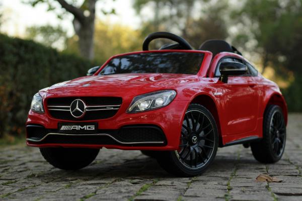 Masinuta electrica Mercedes C63 12V PREMIUM #Rosu 11