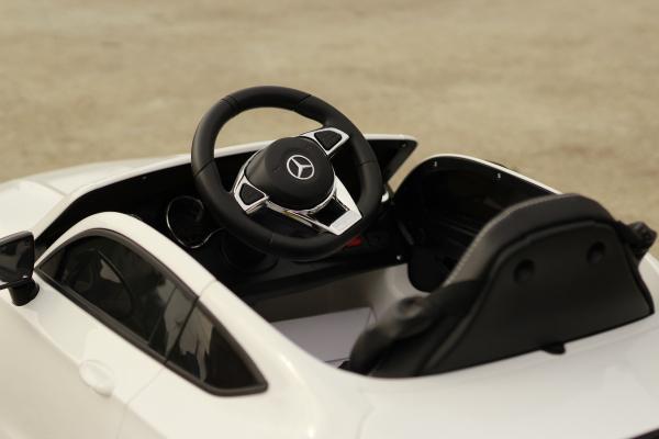 Masinuta electrica Mercedes C63 12V STANDARD #Alb 4