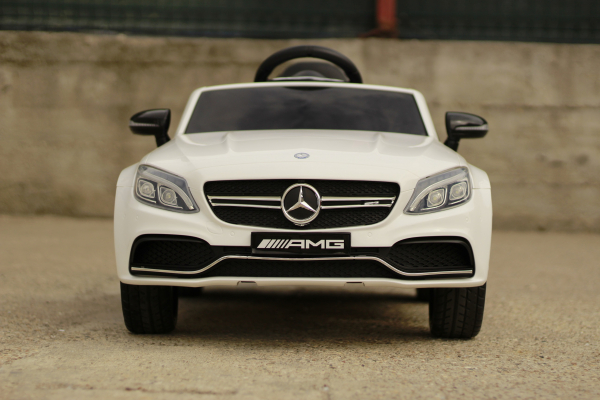 Masinuta electrica Mercedes C63 12V STANDARD #Alb 1