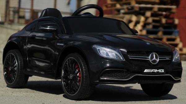 Masinuta electrica Mercedes C63 12V PREMIUM #Negru 1