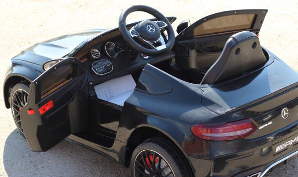 Masinuta electrica Mercedes C63 12V STANDARD #Negru 8