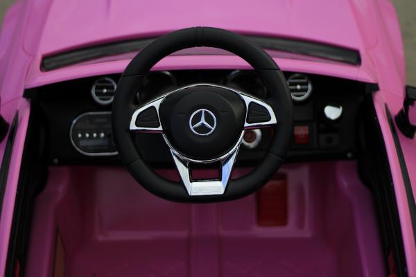 Masinuta electrica Mercedes C63 12V PREMIUM #Roz 6