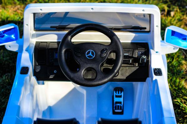 Masinuta electrica Mercedes G55 AMG 12V CU ROTI MOI #Alb 6