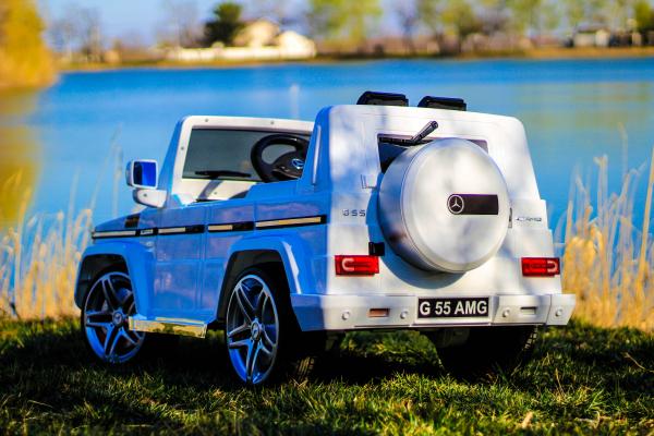 Masinuta electrica Mercedes G55 AMG 12V CU ROTI MOI #Alb 3