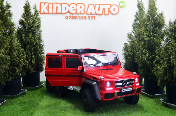 Mercedes G63 6x6 180W 12V echipare premium rosie [2]