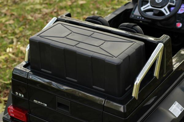 Masinuta electrica copii Mercedes G63 6x6 270W, neagra [13]