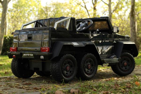 Masinuta electrica Mercedes G63 6x6 270W DELUXE #Negru 3