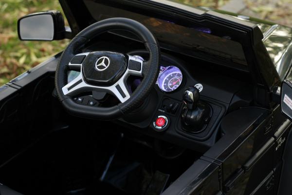 Masinuta electrica copii Mercedes G63 6x6 270W, neagra [7]