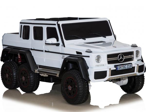 Masinuta electrica Mercedes G63 6x6 Premium cu 4 motoare #ALB 0