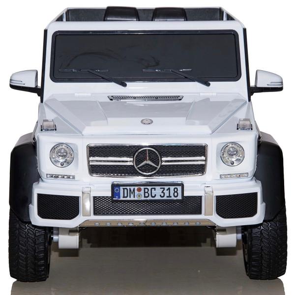 Masinuta electrica Mercedes G63 6x6 Premium cu 4 motoare #ALB 1