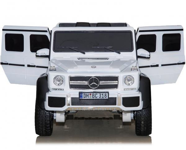 Masinuta electrica Mercedes G63 6x6 Premium cu 4 motoare #ALB 8
