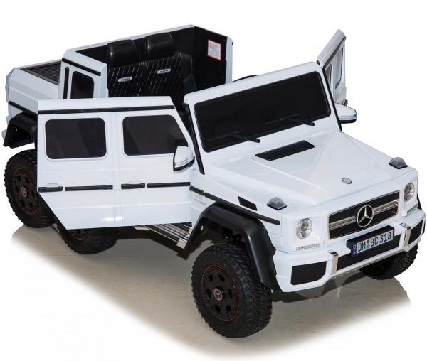 Masinuta electrica Mercedes G63 6x6 Premium cu 4 motoare #ALB 10