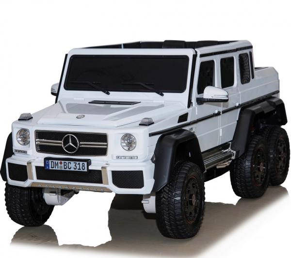 Masinuta electrica Mercedes G63 6x6 Premium cu 4 motoare #ALB 2