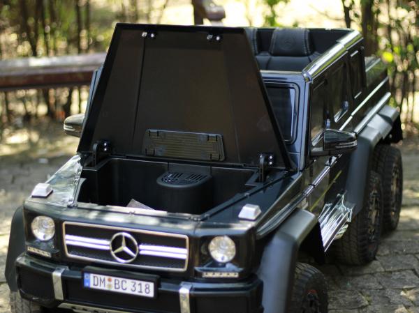 Masinuta electrica Mercedes G63 6x6 Premium cu 4 motoare #Negru 9