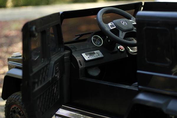 Masinuta electrica Mercedes G63 6x6 Premium cu 4 motoare #Negru 8