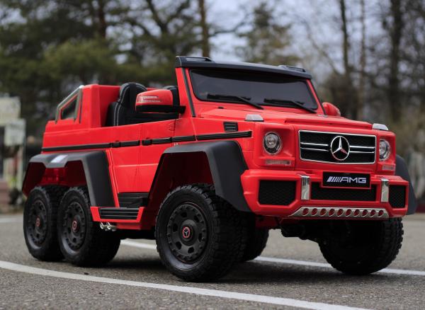 Masinuta electrica Mercedes G63 6x6 Premium cu 6 motoare #Rosu 2