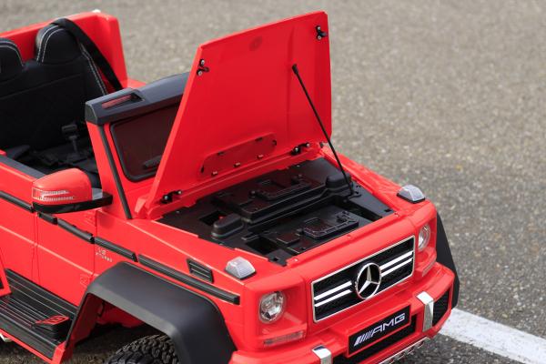 Masinuta electrica Mercedes G63 6x6 Premium cu 6 motoare #Rosu 14