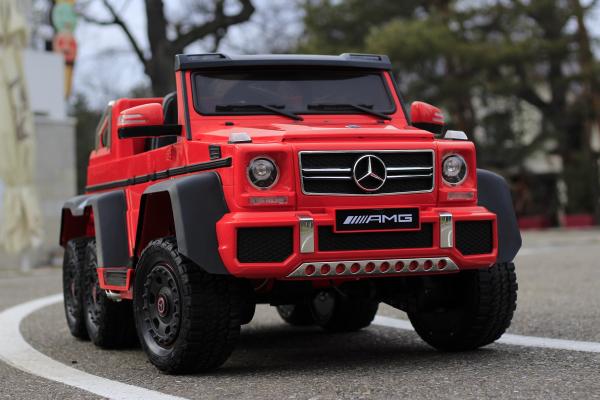 Masinuta electrica Mercedes G63 6x6 Premium cu 6 motoare #Rosu 4