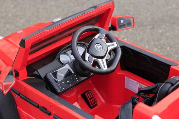 Masinuta electrica Mercedes G63 6x6 Premium cu 6 motoare #Rosu 7