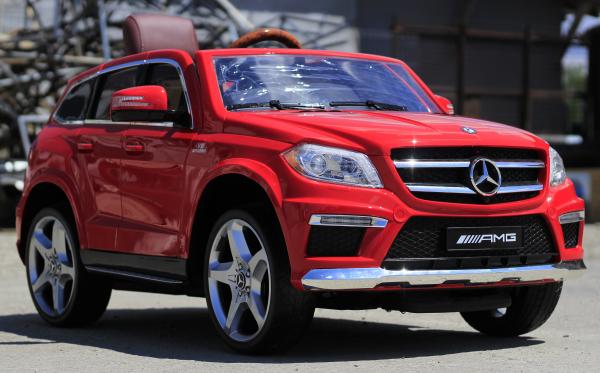 Masinuta electrica Mercedes GL63 4x4 DELUXE #Rosu 2