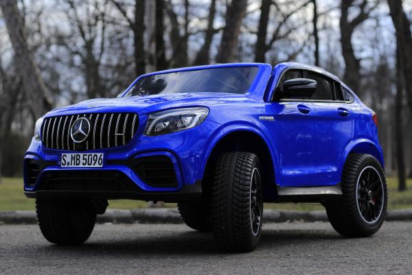 Masinuta electrica Mercedes GLC63s AMG 4x4 180W PREMIUM #Albastru 2