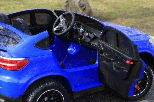 Masinuta electrica Mercedes GLC63s AMG 4x4 180W PREMIUM #Albastru 5