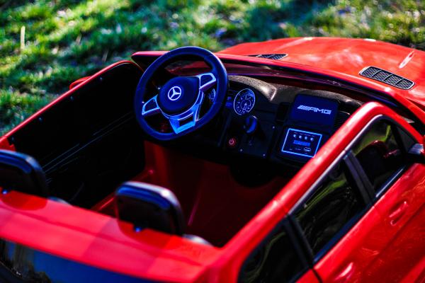 Masinuta electrica Mercedes GLS63 AMG 2x4 12V STANDARD #Rosu 5