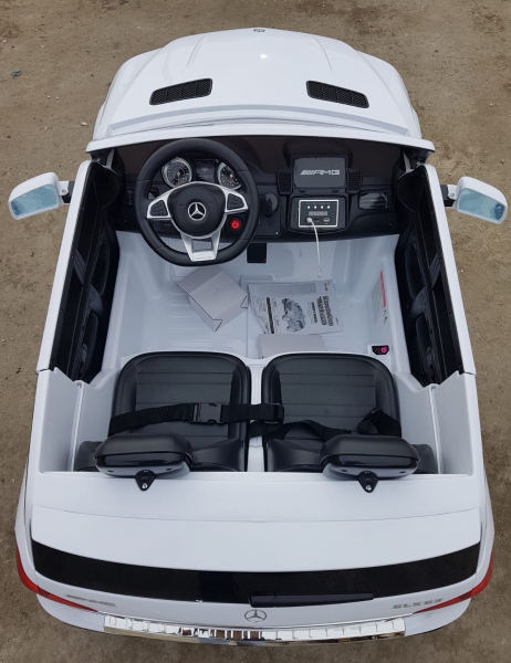 Masinuta electrica Mercedes GLS63 AMG 4x4 24V STANDARD #Alb 3