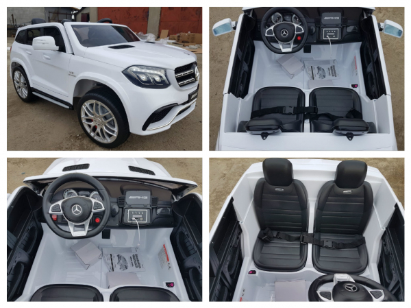 Masinuta electrica Mercedes GLS63 AMG 4x4 24V STANDARD #Alb 11