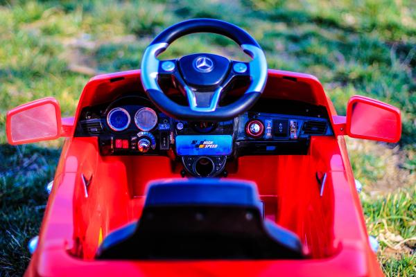 Masinuta electrica rosie Mercedes ML, copii 2-4 ani 6