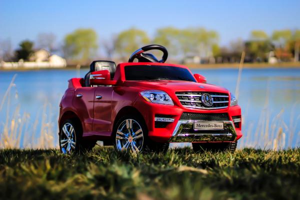Masinuta electrica rosie Mercedes ML, copii 2-4 ani 2