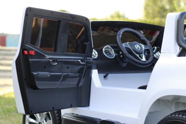 Masinuta electrica Mercedes POLICE X-Class 4x4 STANDARD #Alb 7