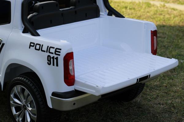 Masinuta electrica Mercedes POLICE X-Class 4x4 STANDARD #Alb 4