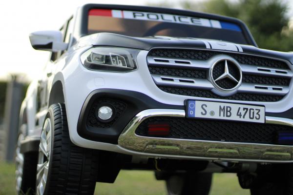 Masinuta electrica Mercedes POLICE X-Class 4x4 STANDARD #Alb 1