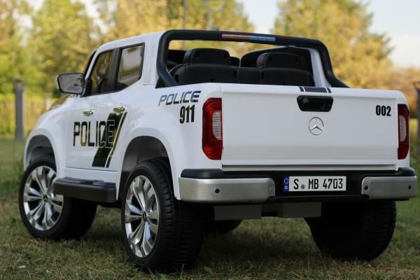 Masinuta electrica Mercedes POLICE X-Class 4x4 STANDARD #Alb 3