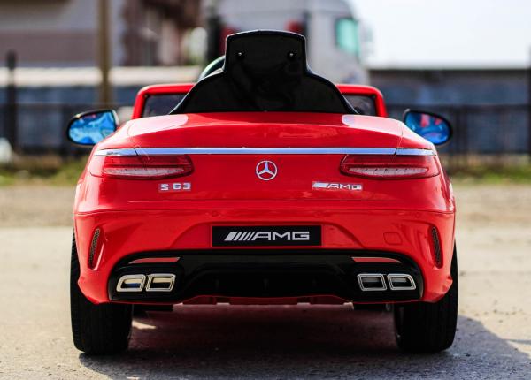 Masinuta electrica pentru copii Mercedes rosie model S63 [4]