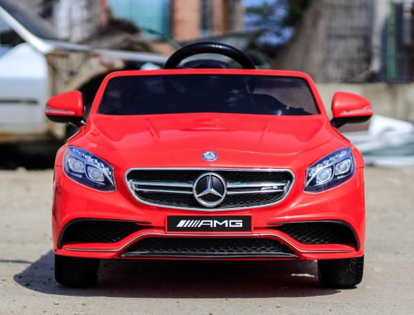 Masinuta electrica pentru copii Mercedes rosie model S63 [5]