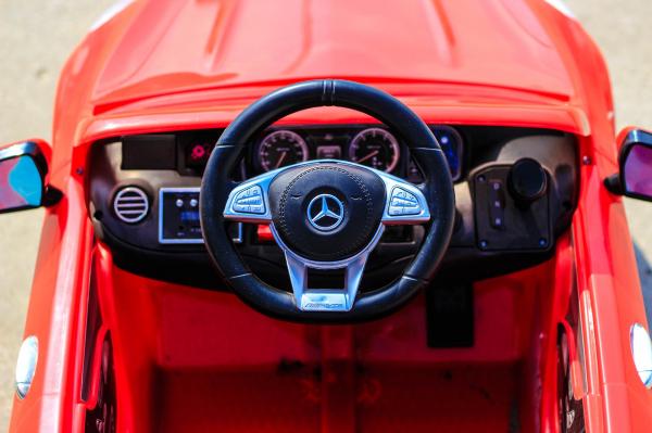 Masinuta electrica pentru copii Mercedes rosie model S63 [8]