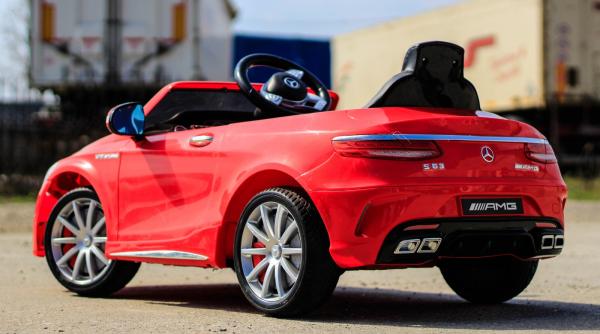 Masinuta electrica pentru copii Mercedes rosie model S63 [9]