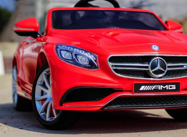 Masinuta electrica pentru copii Mercedes rosie model S63 [6]