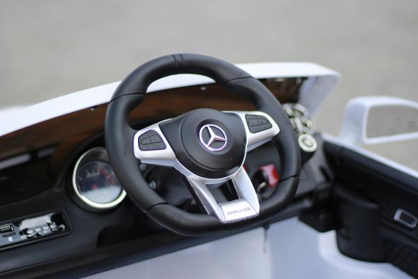 Masinuta electrica Mercedes SL65 AMG CU SCAUN TAPITAT #Alb 8