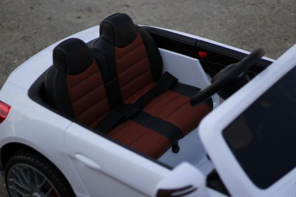 Masinuta electrica Mercedes SL65 AMG CU SCAUN TAPITAT #Alb 5