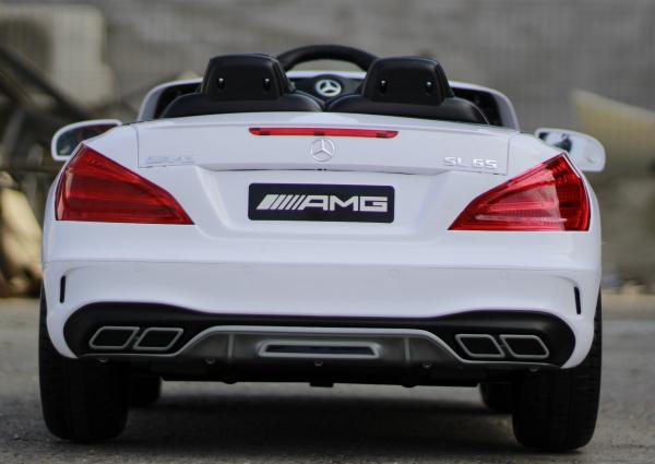 Masinuta electrica Mercedes SL65 AMG CU SCAUN TAPITAT #Alb 13