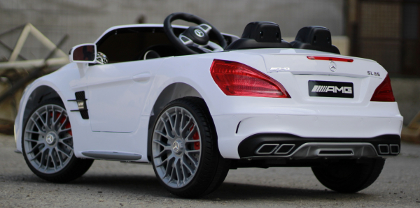 Masinuta electrica Mercedes SL65 AMG CU SCAUN TAPITAT #Alb 14