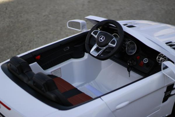 Masinuta electrica Mercedes SL65 AMG CU SCAUN TAPITAT #Alb 6