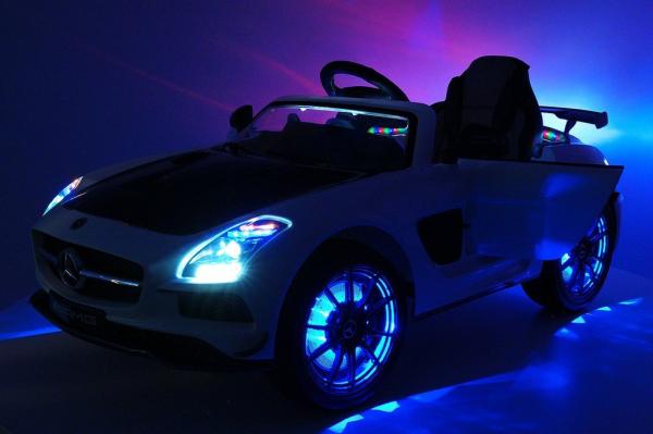 Masinuta electrica Mercedes SLS STANDARD 2x 25W 12V #Alb 8